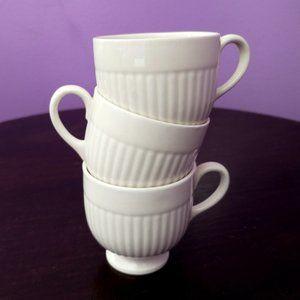 3 Vtg Cream Wedgwood Etruria England Insignia Cups